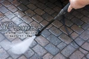 Brick cleaning power wash